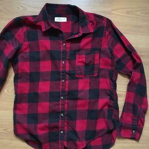 Hollister Red/Black Cabin Flannel